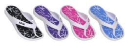 36 Bulk Womens Assorted Color Flip Flops