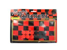 108 Bulk Toy Checkerboard With Checkers