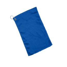 240 Bulk Fingertip Towel Hemmed Ends Corner Grommeted And Hook In Royal