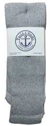 60 Bulk Yacht & Smith Men's Cotton 28 Inch Tube Socks, Referee Style, Size 10-13 Solid Gray