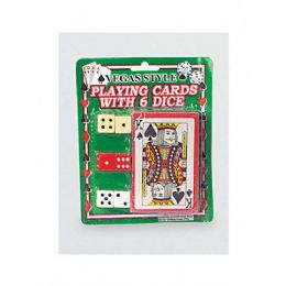 72 Bulk Vegas Style Playing Card With Dice