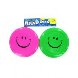 72 Bulk Smiley Face Flying Disk