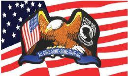 24 Bulk Usa Pow Mia Flag Combo