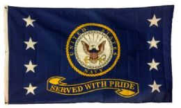24 Bulk Licensed Us Navy Flags Served With Pride