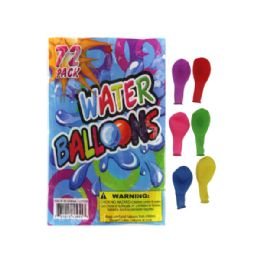 72 Bulk 72 Pack Water Balloons