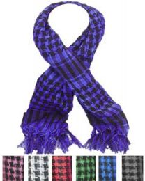 72 Bulk Middle Eastern Assorted Color Scarves
