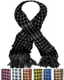 12 Bulk Middle Eastern Assorted Color Scarves