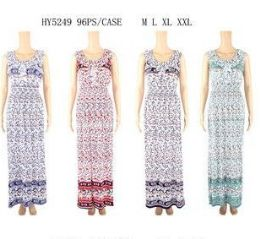 48 Bulk Womens Fashion Summer Sun Dress In Assorted Sizes