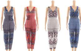 48 Bulk Womens Fashion Summer Romper In Assorted Sizes