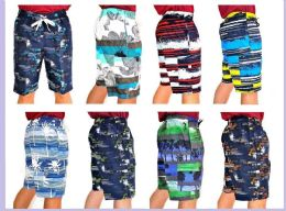 48 Bulk Men's Printed Bathing Suit