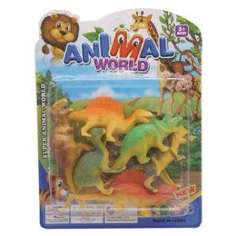 96 Bulk Dinosaur Toy In The Bag