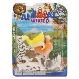 96 Bulk Toy Farm Animal Set
