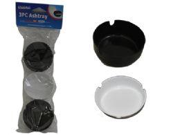 96 Bulk 3 Pc Plastic Ashtrays