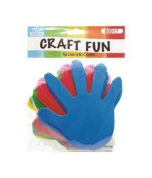 72 Bulk Craft Fun Assorted Colored Palms