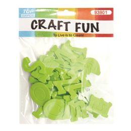 96 Bulk Craft Fun Green Letters