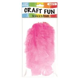 96 Bulk Feather BabY-Pink
