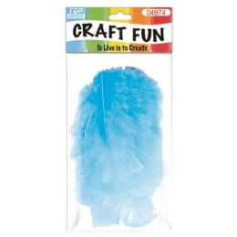 96 Bulk Feather Baby Blue