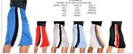 36 Bulk Men's Fashion Basketball Shorts