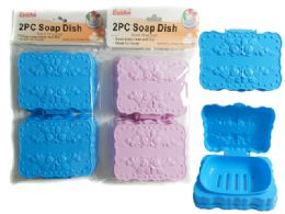 24 Bulk 2 Piece Soap Dish