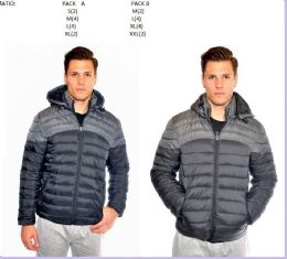 12 Bulk Men's Fashion Bubble Jacket