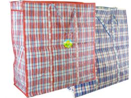 72 Bulk Plaid Shopping Bag