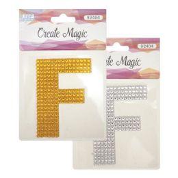 144 Bulk Crystal Sticker F