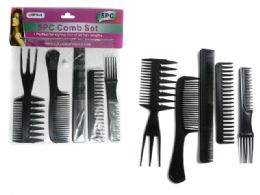 144 Bulk 5pc Assorted Combs Set