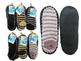 144 Bulk House Slippers With AntI-Skid Dots