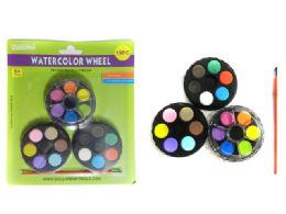 96 Bulk Water Color Wheel Set