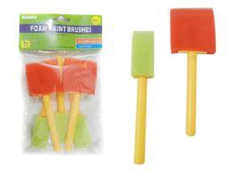 144 Bulk 5 Piece Foam Paint Brushes