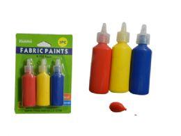 72 Bulk 3pc Craft Fabric Paints