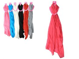 144 Bulk Solid Color Infinity Scarf