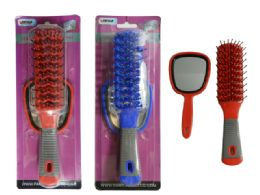 144 Bulk 2 Piece Hair Brush+mirror