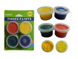 72 Bulk 4pc Craft Finger Paints