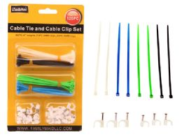 96 Bulk 120 Pieces Cable Ties & Cable Clip