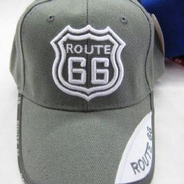 "24 Bulk ""route 66 "" Base Ball Cap"