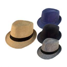 Wholesale Men s Straw Fedora Hat - at - bluestarempire.com 1163851777e