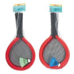12 Bulk Badminton Set Oversize Foam 2 Rackets & 1 Shuttlecock