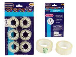 96 Bulk 6 Piece Stationery Tape Refills