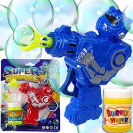 24 Bulk Friction Powered Robot Carded Bubble Guns