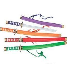 60 Bulk Ninja Swords Assorted Colors