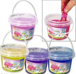 36 Bulk Large Magic Clay Slimes W/ Fruit Confetti