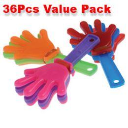 80 Bulk 36 Piece Mini Hand Clapper Noisemakers