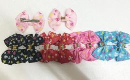 144 Bulk Girls Floral Assorted Colored Hair Clip