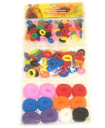 50 Bulk Girls Pony Tail Holders Assorted Color