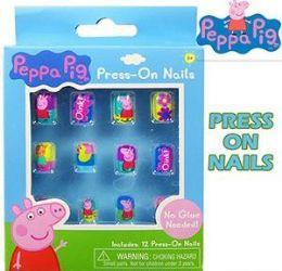 96 Bulk Peppa Pig 12 Pc Press On Nails