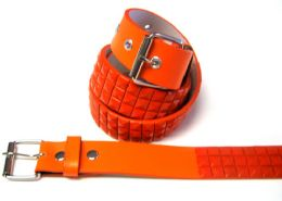 48 Bulk Pyramid Studded Orange Belt