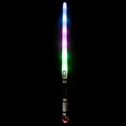 144 Bulk Led Light Up Space Swords W/flashing Globe