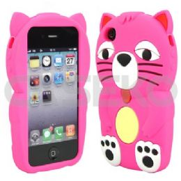 12 Bulk I Phone 4s Big Cat Pink Protective Case