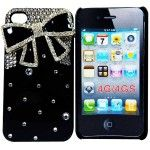 6 Bulk I Phone Case 3d Bow In Black